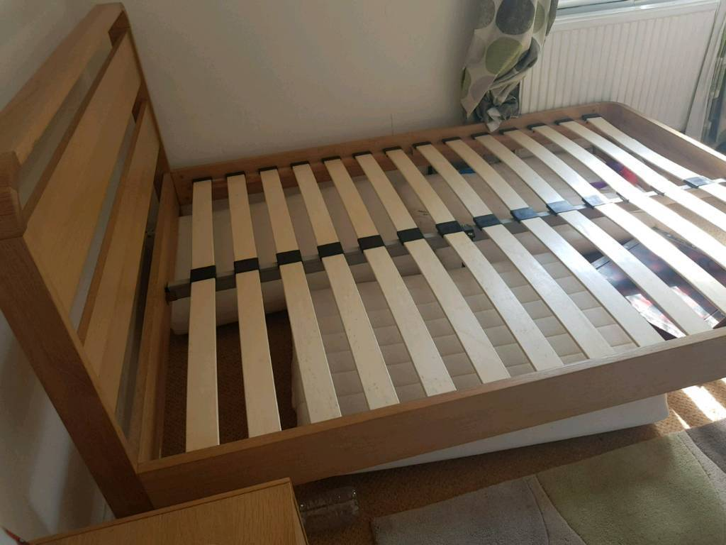 Oak Double Bed as new + Delivery