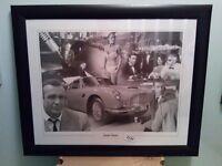TRIO OF JAMES BOND FRAMED MONTAGE PICTURES
