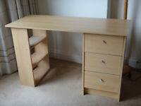 Sturdy DESK. 72x200x50cm. 3 drawers and 3 shelves. VGC