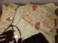 Two pairs of curtains.