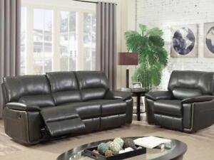 MODERN LEATHER RECLINER SET  (KW2301)