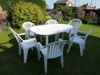Garden table and chairs (no offers)