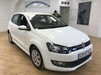 VOLKSWAGEN POLO 1.2 BLUEMOTION TDI 5d 74 BHP 6 MONTHS WARRANTY (white) 2013