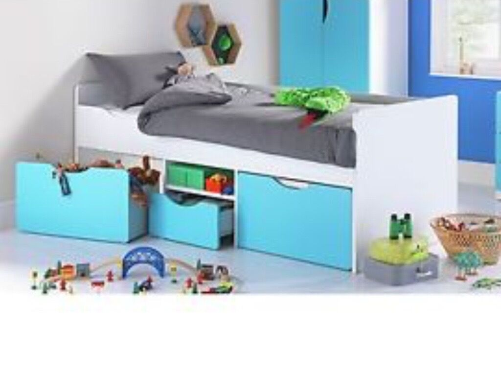 Brand New Tolga Single Cabin Bed With Storage And Mattress In