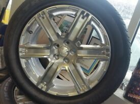 """NEW GENUINE LAND ROVER 19"""" ALLOY WHEELS WITH NEW TYRES"""