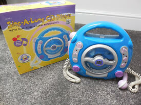 Sing-a-long CD Player with 2 mics with box