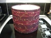 DEEP RED LAMPSHADE WITH GOLD SEQUINS EXC