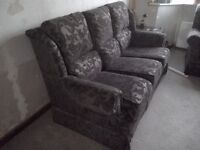 Dark brown well-made 3-piece suite in excellent condition
