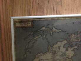 Final Fantasy Gaia world map - framed.