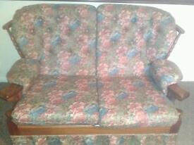 Two seater sofa with two arm chairs