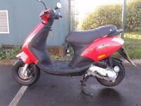 2010 piaggio zip 50cc scooter moped , 12 months mot