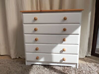 Pine 5 Drawer Chest of Drawers