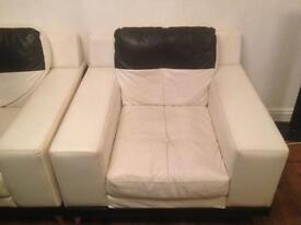 Black and white sofa suites
