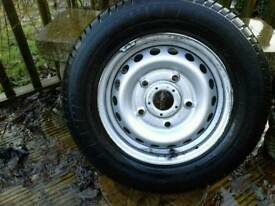 Transit custom spare wheel and tyre