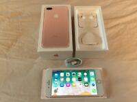 **IMMACULATE Condition** iphone 7 PLUS, 32GB, UNLOCKED, Rose Gold (93)