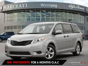 2016 Toyota Sienna 8 PASSENGER; ACCIDENT FREE, PRAIRIE VEHICLE