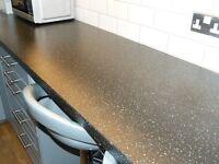 Ikea Laminate Worktop. Saljan Black £60. Tel: 07846675693 Tel: 07846675693