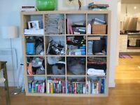 IKEA 'KALLAX' (used to be 'EXPEDIT') 4x4 bookshelf / bookcase - in 'Birch Effect' colour