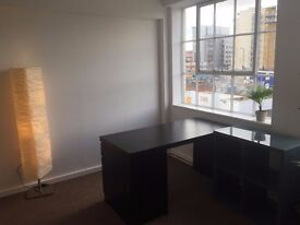 Desk to rent in bright, light office in Hackney Wick £230 ONO per month all inc.