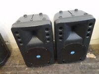 RCF ART300A,Active speakers,360 watts rms each,pair,excellent sound