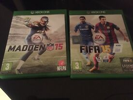 Fifa 15 and Madden 15 games for sale