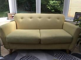 NEED GONE TODAY!!!!! REDUCED M&S Marks & Spencer lime green 2 seater sofa