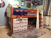 High bed frame only, not the chest of drawers, mattress or shelf underneath
