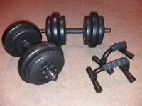 Dumbbells and Pushup handles (set)
