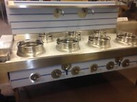 CHINESE WOK COOKER, 4+3, NEW, CHOICE OF BURNERS, LPG OR NATURAL GAS £3300