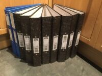 Selection of box files, lever arch files and ringbinders