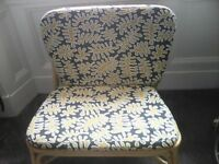 WICKER PADDED CHAIR