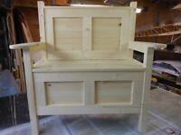 New 3 Foot Hallway Storage Bench / Monks Bench / Bench Seat