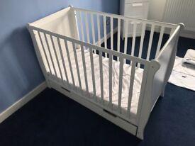 White babys cot