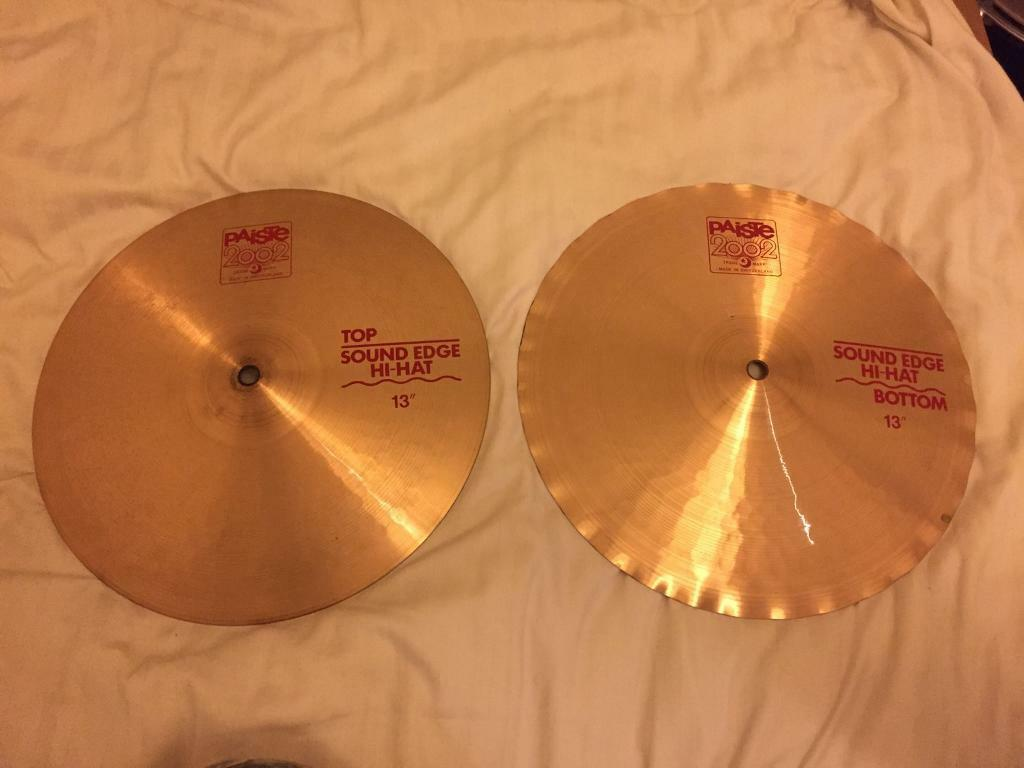 Paiste 2002 sound hi-hat cymbals and hi-hat stand with pedal   in Oxford,  Oxfordshire   Gumtree