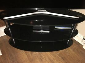 Black high gloss 3 tier TV stand. Excellent condition!