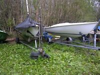 flying 15 windebank mk 4 classic 1st worlds 1984 1st southern 1996 sail no2682