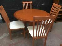 Morris of Glasgow solid oak dining suite as new!