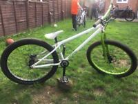 Mint Voodoo Shango jump bike with disc brakes and 26inch wheels