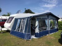 Swift charisma 565 touring caravan with awning and accessories