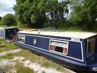 Narrowboat Little Noah with superb private mooring on Llangollen Canal