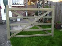 1.8m Wide 5 Bar Gate. Never been used, fully pressured treated, stored in garage.