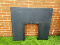 Black Slate Fire Place Back Panel