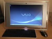"""All in One PC - Sony Vaio VGC-LT2S with 22"""" widescreen LCD display and BlueRay."""