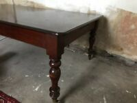 """Beautiful Antique Victorian dining table seats 10 45"""" x 84"""""""