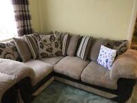 Corner and 2 seater sofas