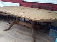 Dining table. Large oval shape. Excellent condition.