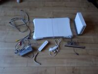 Nintendo Wii console Wii fit disc and balance board