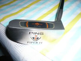 PING PIPER H GENUINE PING PUTTER SERIAL NO H0022750 COMPLETE WITH ORIGINAL HEAD COVER