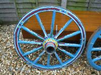 """Vintage 25"""" diameter Wagon Wheel's - Original"""
