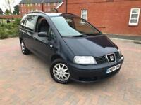 2004/04 Seat Alhambra SX 1.9 TDI 130Bhp 6G 7 Seater New Clutch & Flywheel 1 lady owner